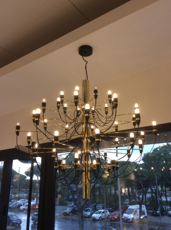2097 50 Sarfatti Brass Ceiling Light Desadd