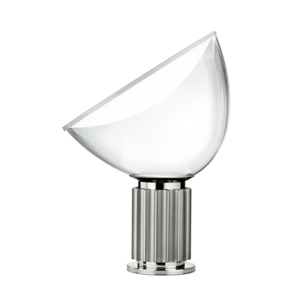 Flos taccia silver large table lamp design castiglioni flos taccia table lamp silver thum mozeypictures Gallery