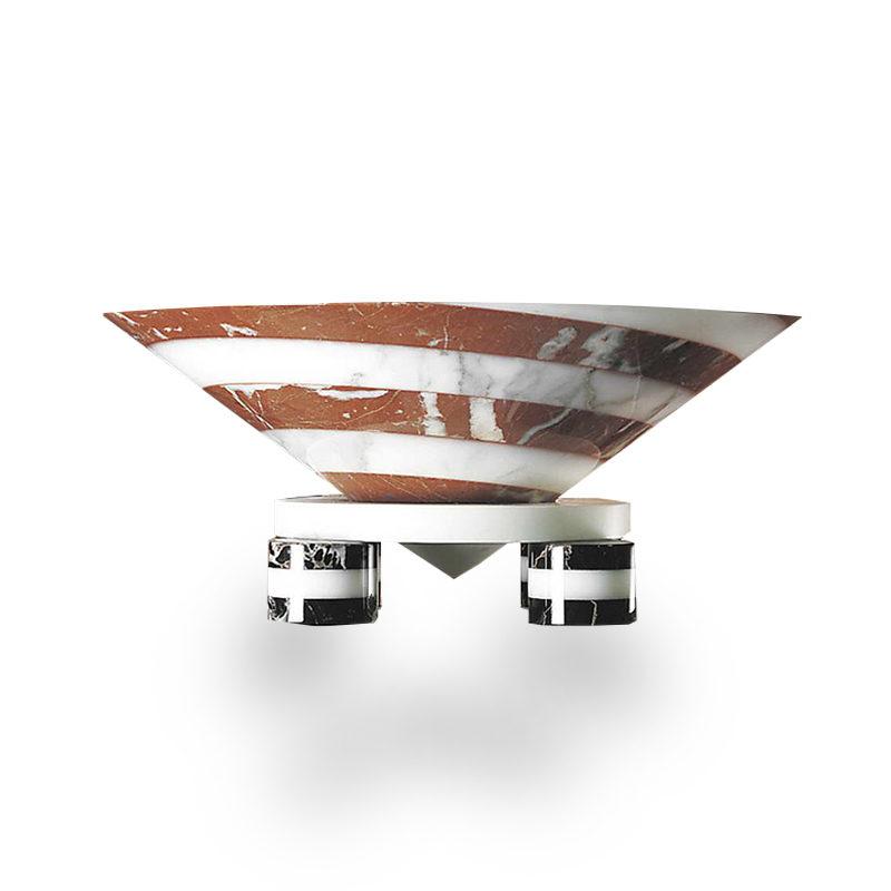 Portafrutta Centerpiece designed by Martine Bedin Memphis